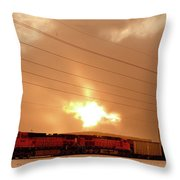 Morning Train 2 Throw Pillow