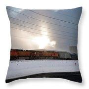 Morning Train Throw Pillow