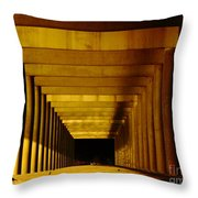 Morning Under The Bridge Throw Pillow