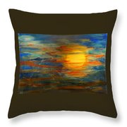 Morning View From Hill Street With City Lights Throw Pillow