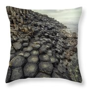 Morning With Giants Throw Pillow