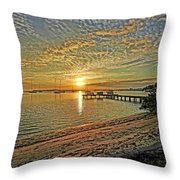 Mornings Embrace Throw Pillow