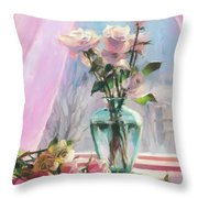 Morning's Glory Throw Pillow