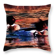Mornings Of Gold Throw Pillow