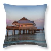 Mornings On The Beach Throw Pillow