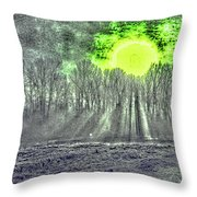 Morning's Walk Throw Pillow
