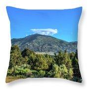 Morning View Of Albion Mountains Throw Pillow