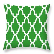 Moroccan Arch With Border In Dublin Green Throw Pillow