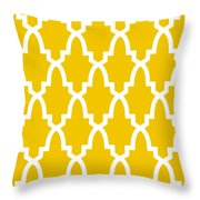 Moroccan Arch With Border In Mustard Throw Pillow