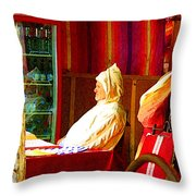 Moroccan In Cafe Throw Pillow