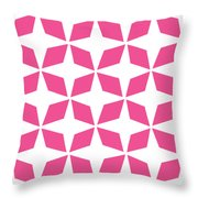 Moroccan Inlay With Border In French Pink Throw Pillow