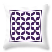 Moroccan Inlay With Border In Purple Throw Pillow