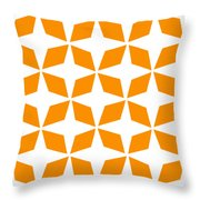 Moroccan Inlay With Border In Tangerine Throw Pillow