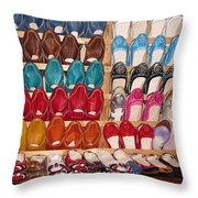 Moroccan Shoes 3 Throw Pillow