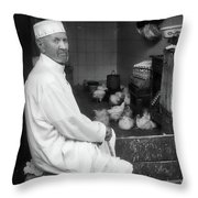 Moroccan Shopkeeper Throw Pillow