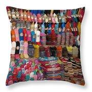 Moroccan Souks Throw Pillow