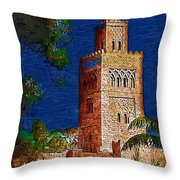 Morocco Pavilion In Epcot Throw Pillow