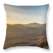 Morongo Valley From On High Throw Pillow