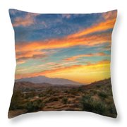 Morongo Valley Sunset Throw Pillow