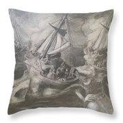 Morphological Echo At Sea Throw Pillow