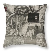 Morphology Of Time And The Omniscient Galactic Swimmer Throw Pillow