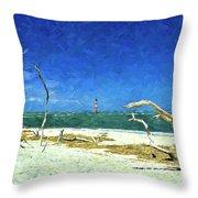 Morris Island Lighthouse 2 Throw Pillow