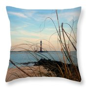 Morris Island Lighthouse In Charleston Sc Throw Pillow
