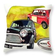 Morris Mini Cooper S Throw Pillow