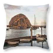 Morro Bay Small Pier Throw Pillow