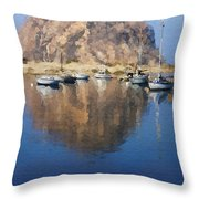 Morro Harbor Throw Pillow