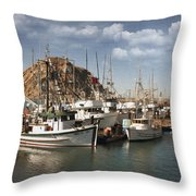 Morro Pier Throw Pillow