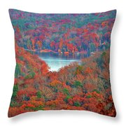 Morrow Mountain Overlook Throw Pillow