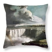 Morse: Niagara Falls, 1835 Throw Pillow