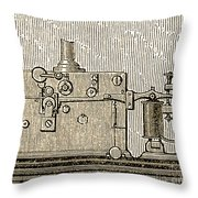 Morse Telegraph Machine, 1889 Throw Pillow
