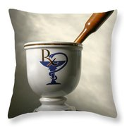 Mortar And Pestle Throw Pillow by Kristin Elmquist