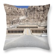 Mortuary Temple Of Hatshepsut - Egypt Throw Pillow