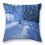 Morzine Ski Run Throw Pillow