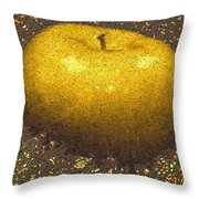 Mosaic Apple Throw Pillow
