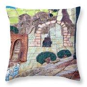 Mosaic Art At Petra Throw Pillow