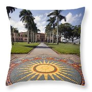Mosaic At The Ca D Throw Pillow