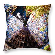 Mosaic Disk Throw Pillow