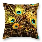 Mosaic Feathers Throw Pillow