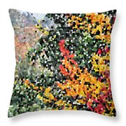 Mosaic Foliage Throw Pillow