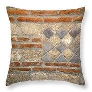 Mosaic From Pompeii Throw Pillow