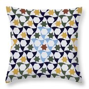 Mosaic From The Portico Of The Generalife Throw Pillow