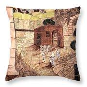 Mosaic Images At Petra Throw Pillow