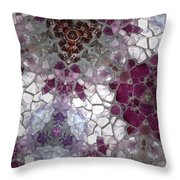 Mosaic In Violets Throw Pillow