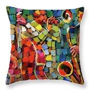 Mosaic Jazz Throw Pillow