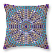 Mosaic Kaleidoscope  Throw Pillow