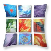Mosaic Of Abstracts Throw Pillow